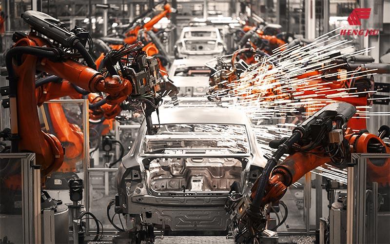 Die Kette für den Automobileproduktionslinien